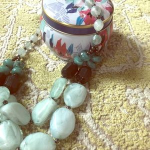 H&M Teal Double Strand Necklace